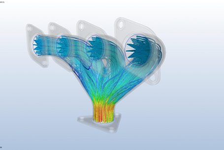 Exhaust manifold CFD